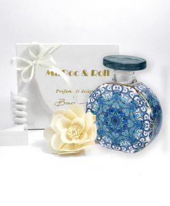 bomboniera diffusure per ambienti bottiglia beatrice 225 ml foulard maroc e roll baci milano