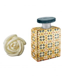 bottiglia bruce 175 ml con fiore 7 cm