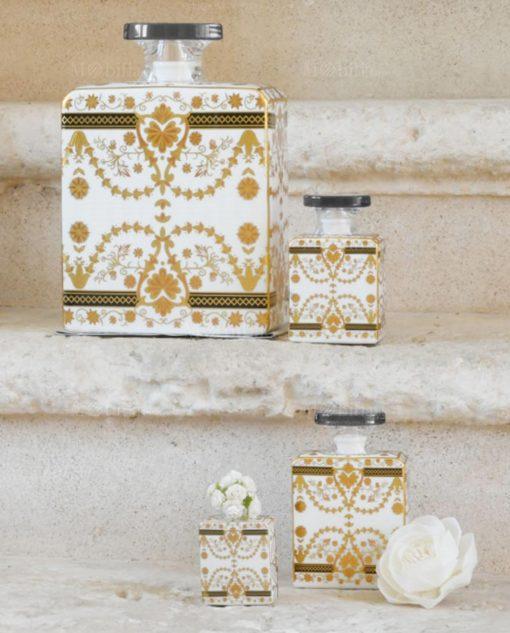 bottiglia debbie profumatore in porcellana maroc e roll baci milano