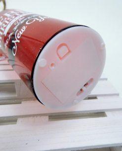 bottiglia in vetro decorata con luci a batteria