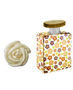bottiglia joplin 175 ml con fiore 7 cm