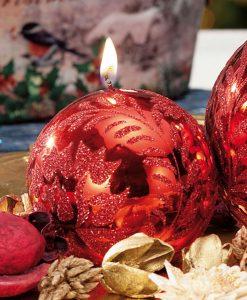 candela rossa a sfera