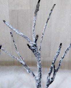 decorazione natalizia da appendere quadro con rami luminosi