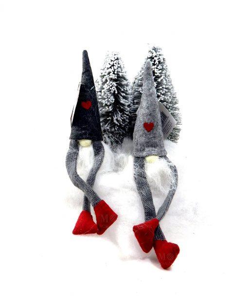 gnomi in tessuto decorazione natalizia