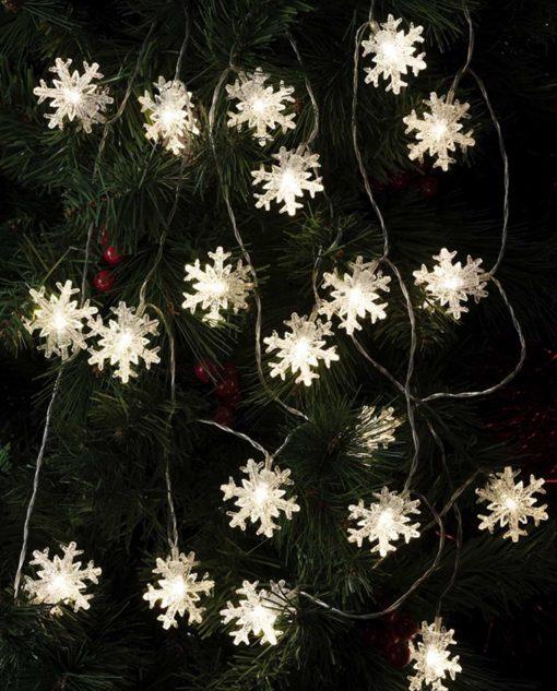 luci a forma di fiocco di neve