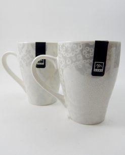 mug in porcellana bianca decorata