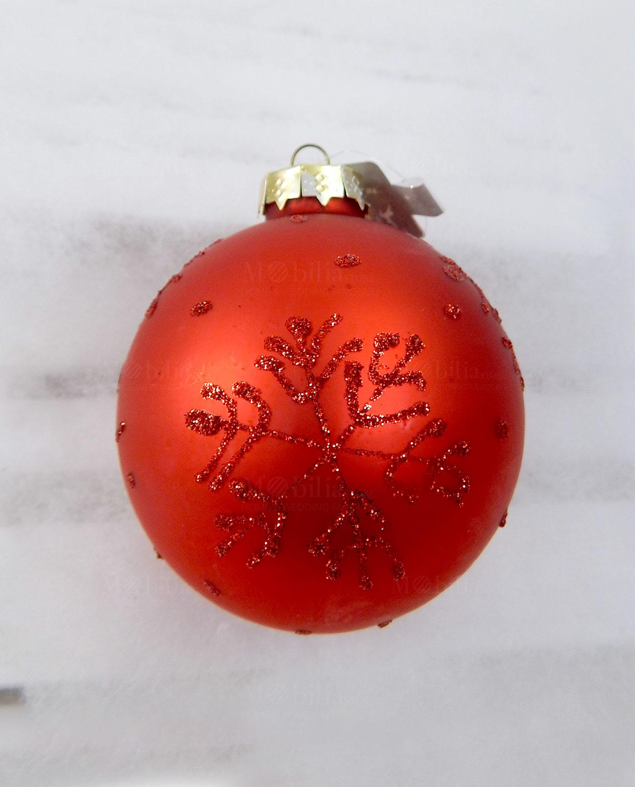 Palline Natale.Palline Di Natale Rosse In Vetro Assortite