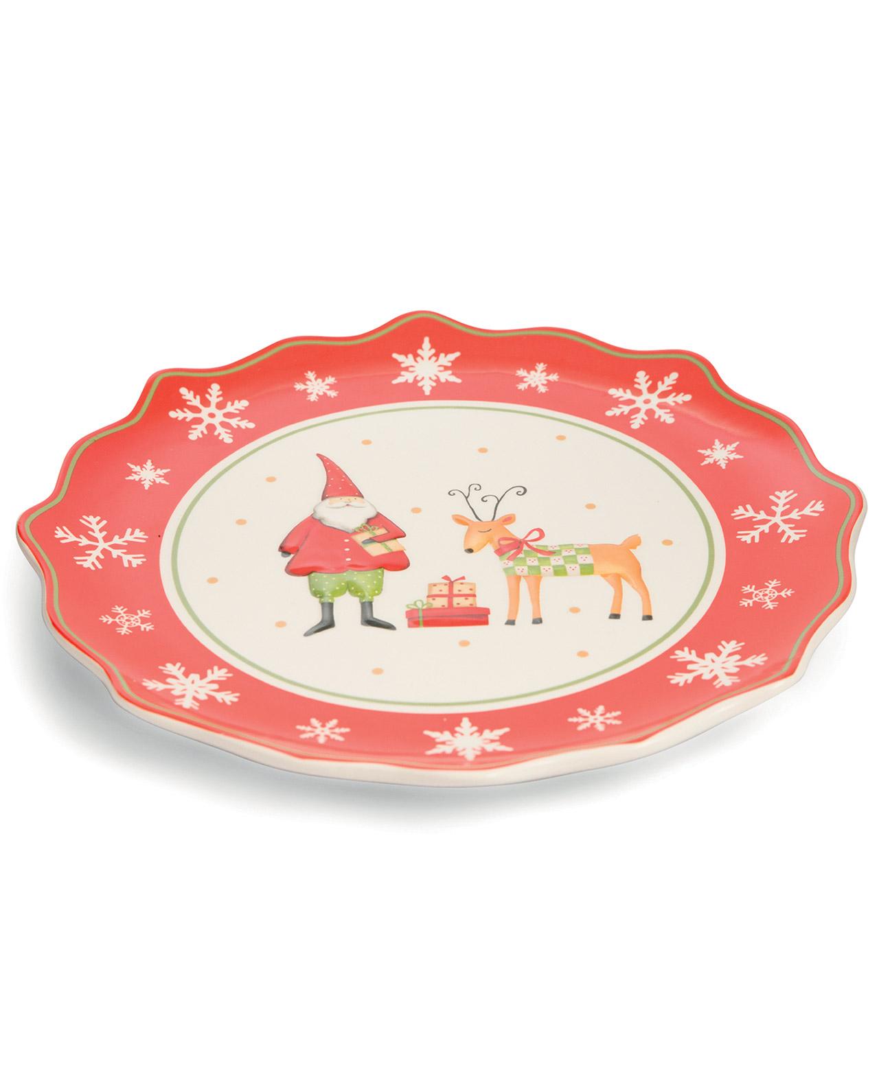 Piatto da portata natalizio tondo mobilia store home - Piatto da portata ...
