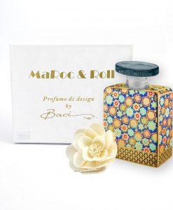 profumatore per ambienti bottiglia jett 375 ml maroc e roll baci milano con fiore carta di gelso