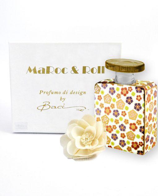 profumatore per ambienti bottiglia joplin 375 ml maroc e roll baci milano con fiore carta di gelso