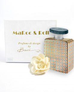 profumatore per ambienti bottiglia sting 375 ml maroc e roll baci milano con fiore carta di gelso
