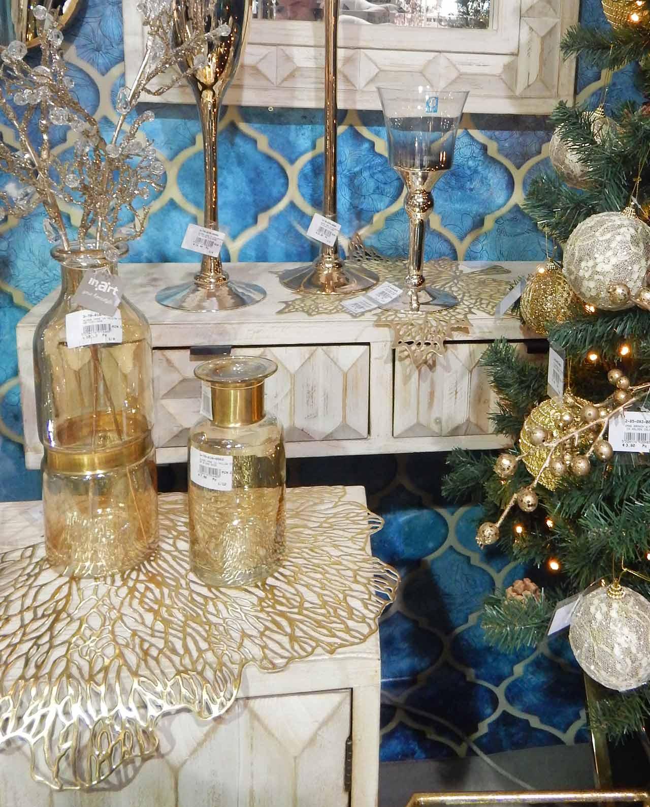 Set 6 Tovagliette Foglia Oro Mobilia Store Home Favours