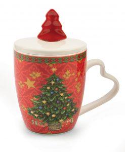 tazza di natale con cucchiaino albero