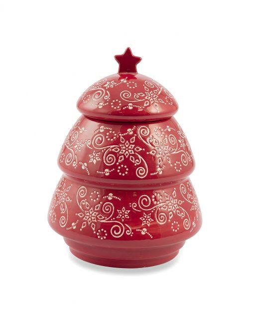 Barattolo natalizio in ceramica albero di natale