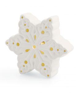 Fiocco di neve in ceramica luminoso