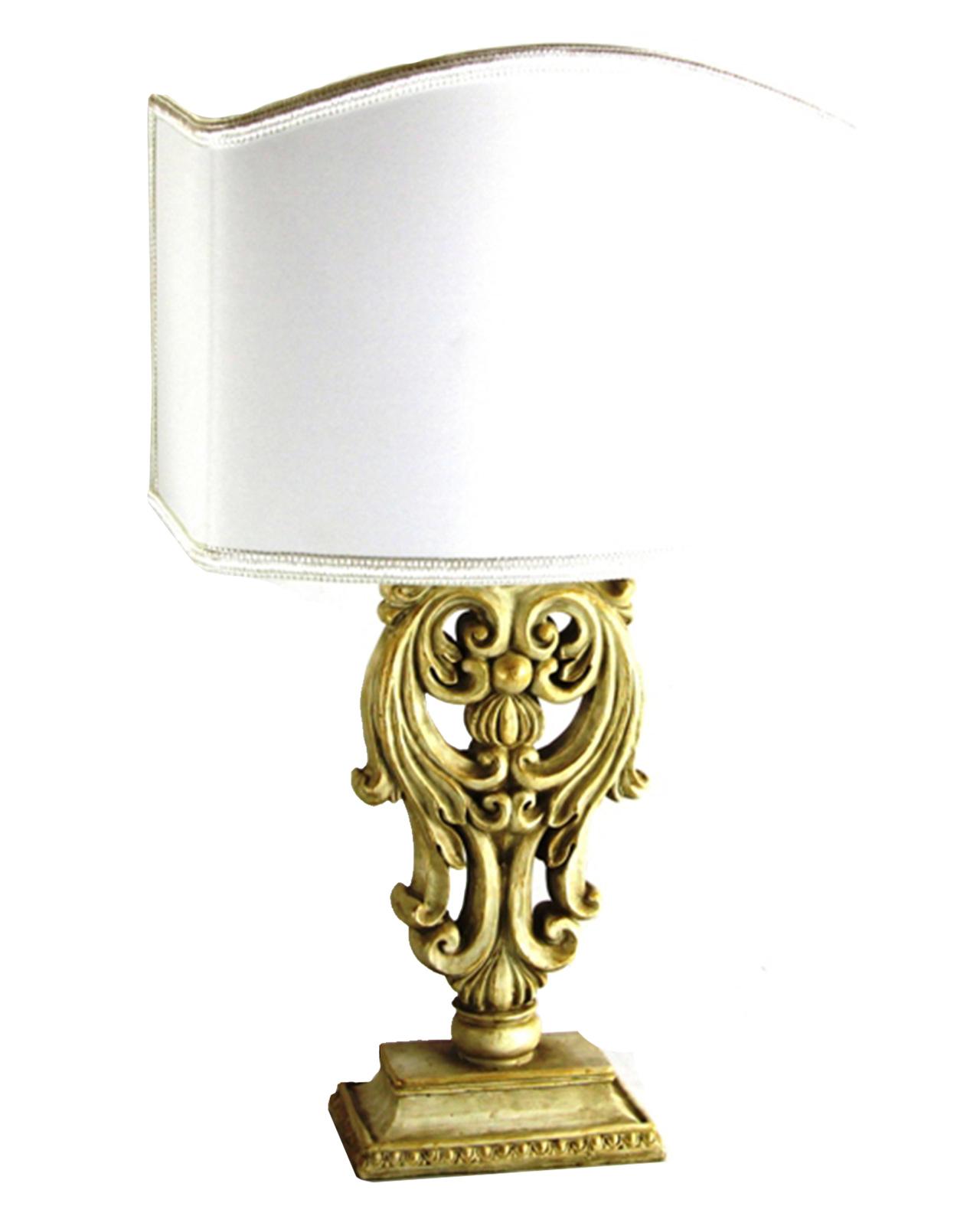 Lampada classica legno stile barocco grande e piccola mobilia store home favours - Lampade da tavolo classiche ...
