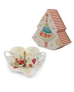 Set 2 tazzine caffè natalizie