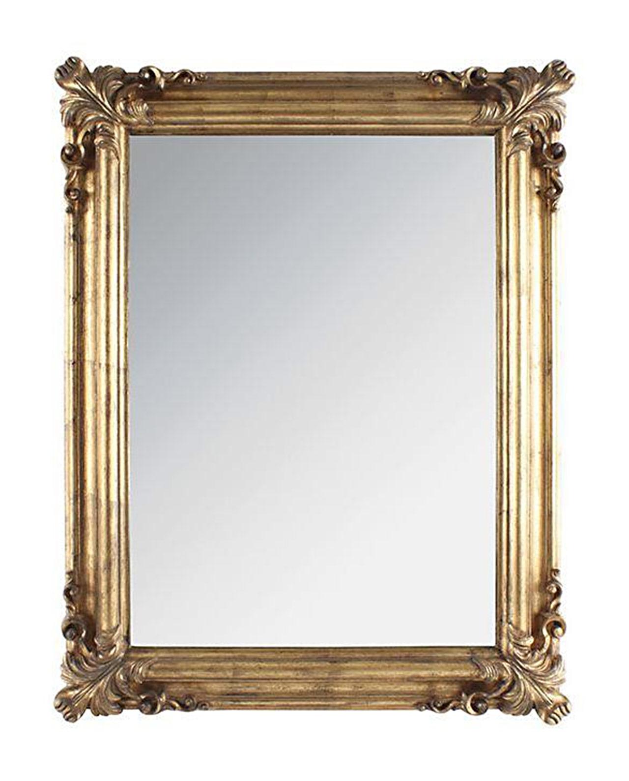 Specchio barocco dorato da parete mobilia store home for Specchio da parete argento