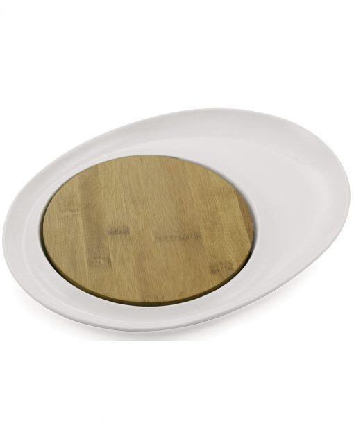 antipastiera ovale con tagliere