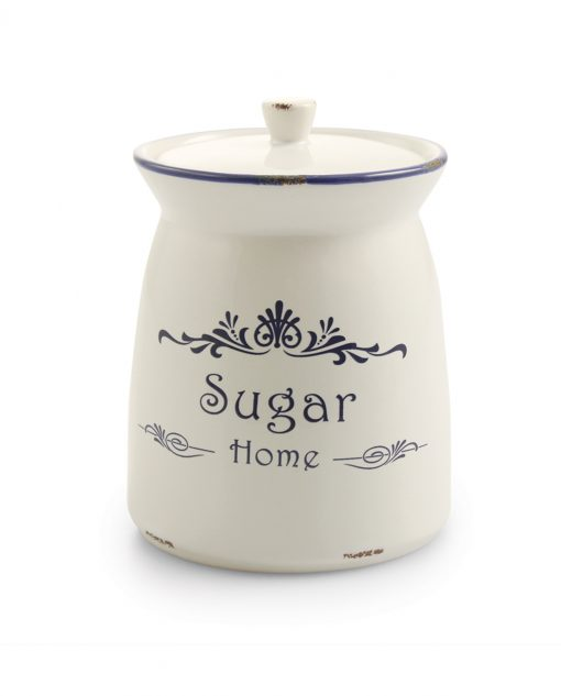 barattolo zucchero in ceramica decorata
