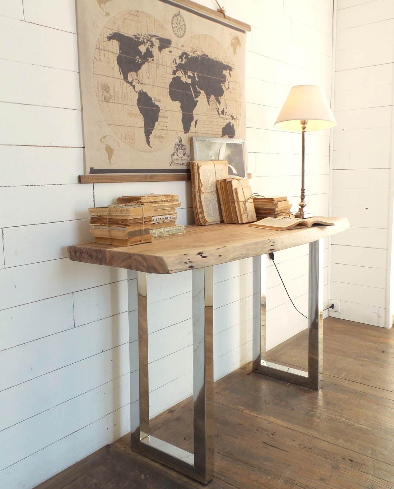 Consolle di design legno e acciaio mobilia store home for Consolle di design