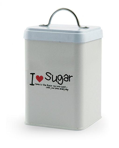 contenitore in latta set 3 pezzi sale zucchero e caffè