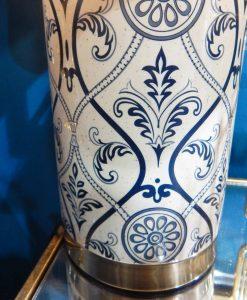 lampada da tavolo decorata blu
