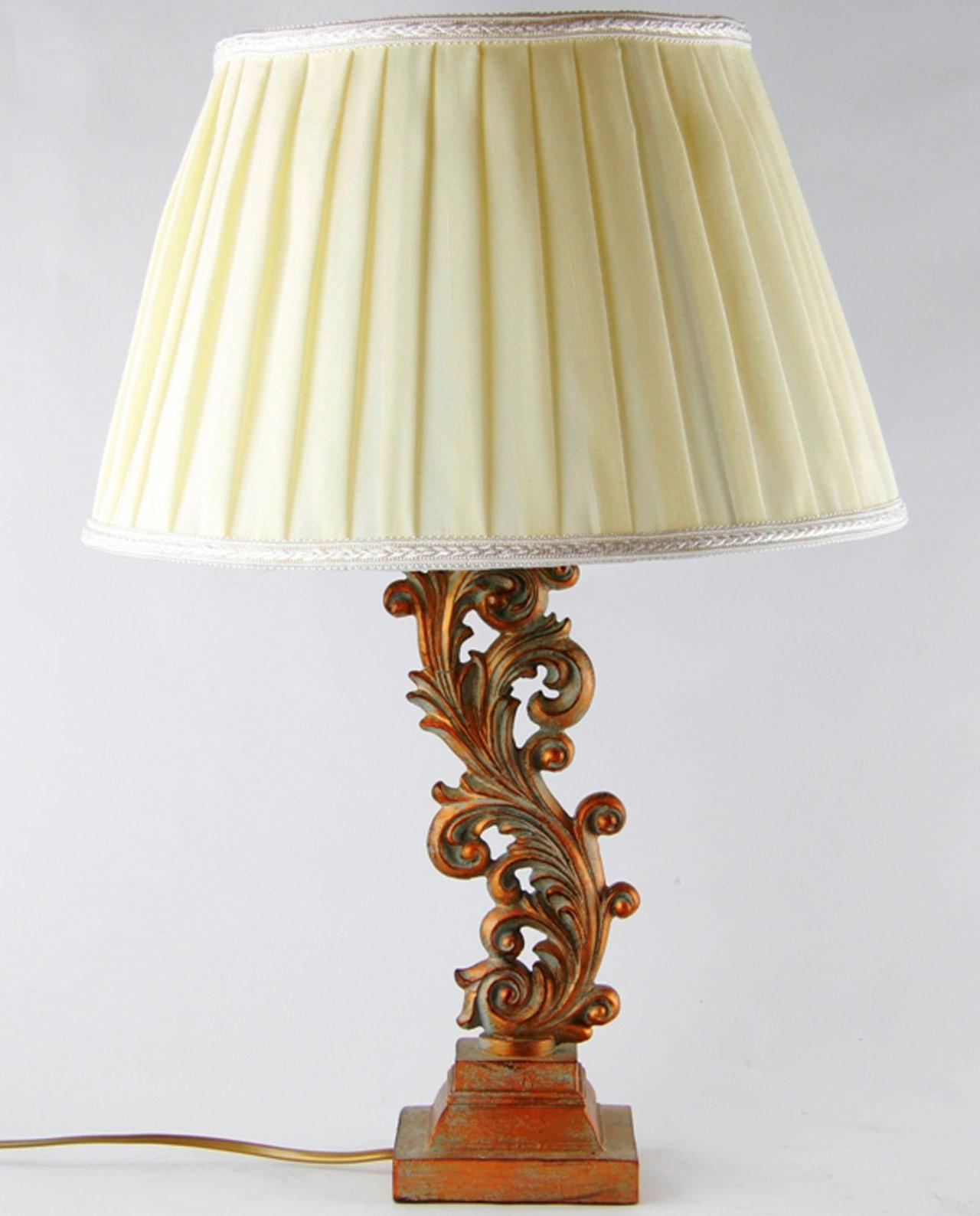 Lampada da tavolo legno stile barocco grande e piccola - Lampada da tavolo legno ...