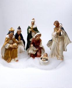 natività porcellana set 6 pezzi