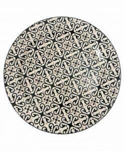 piatto piano in ceramica Alhambra Brandani