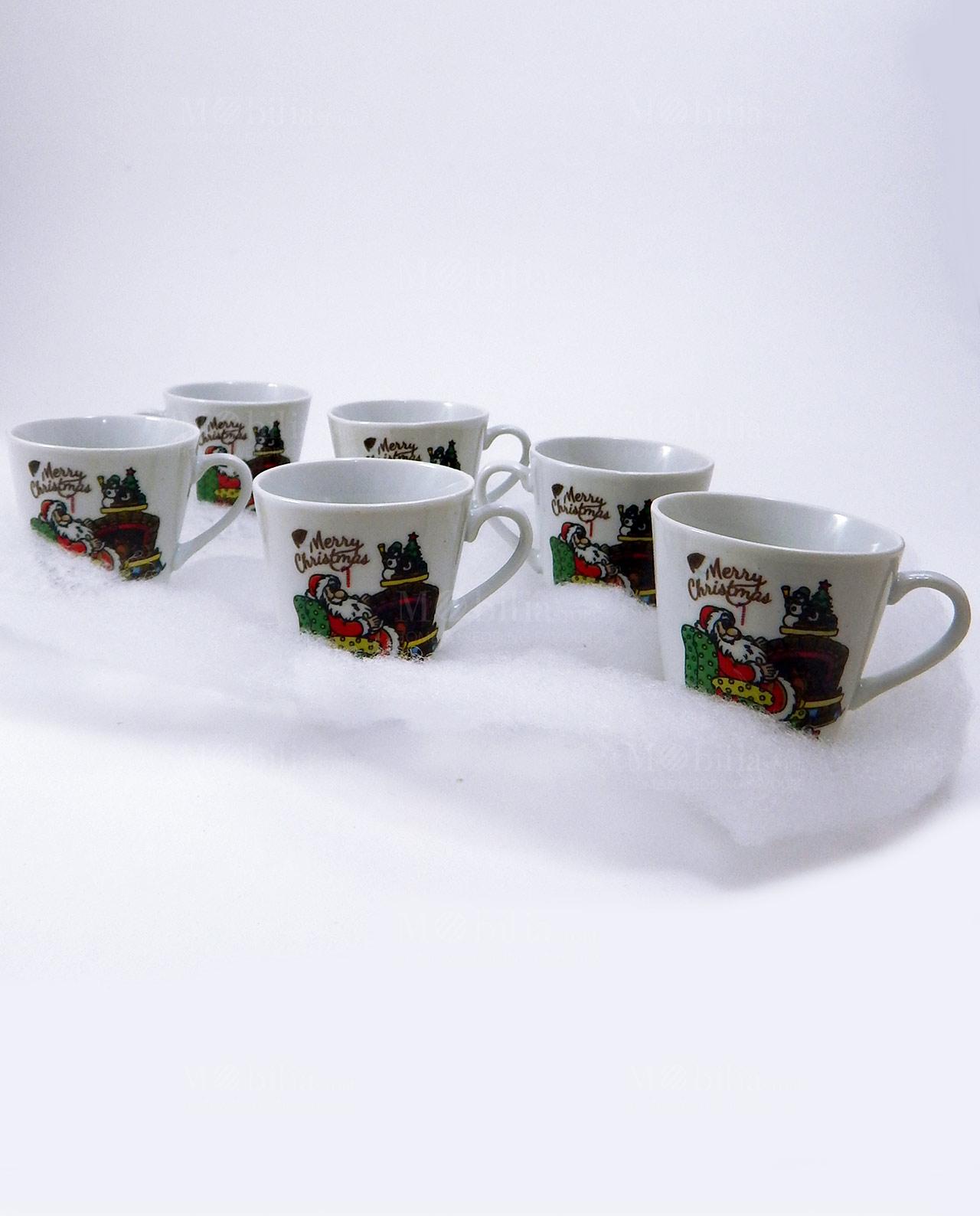 Set 6 Tazzine Da Caff Natalizie Assortite Mobilia Store
