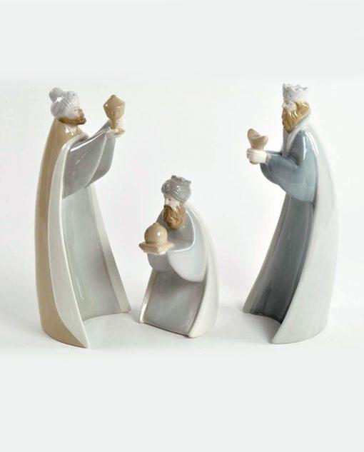 statuine re magi in porcellana