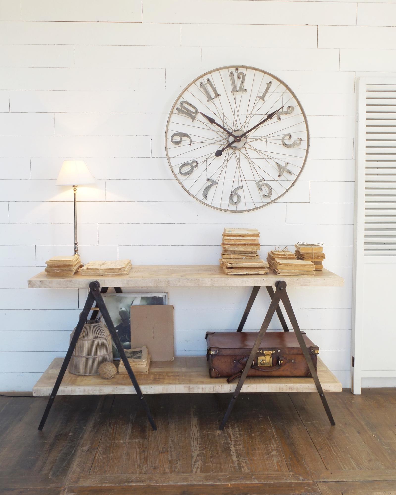 Consolle stile industrial legno di mango e ferro mobilia for Tavolo legno e ferro