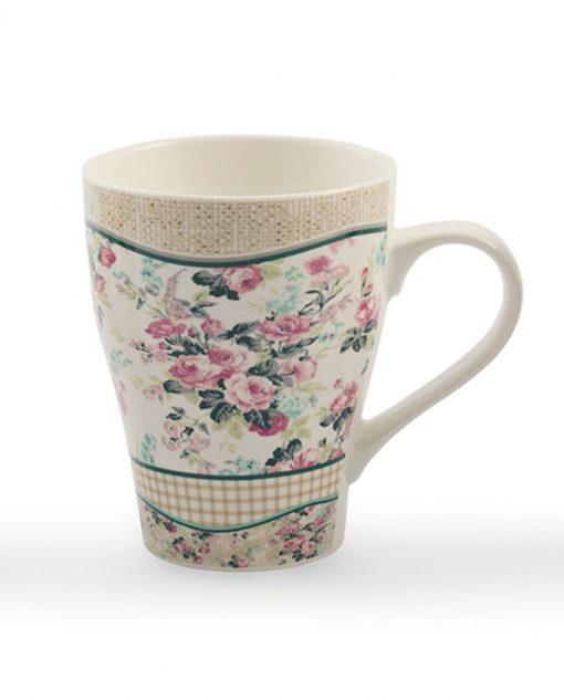 tazza mug con decori a fiori