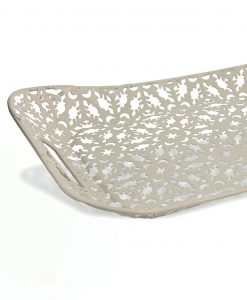 vassoio bianco metallo