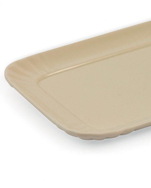 vassoio in ceramica crema