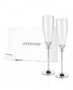 Coppia flutes collezione solitario Ottaviani home
