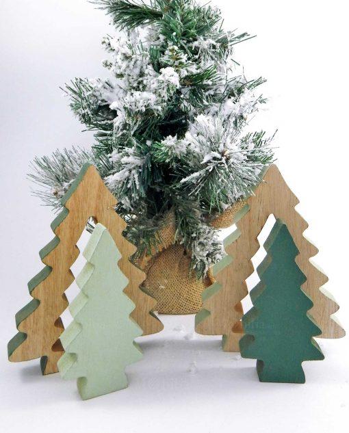 Albero Di Natale In Legno.Decorazione Albero Di Natale Da Tavolo In Legno