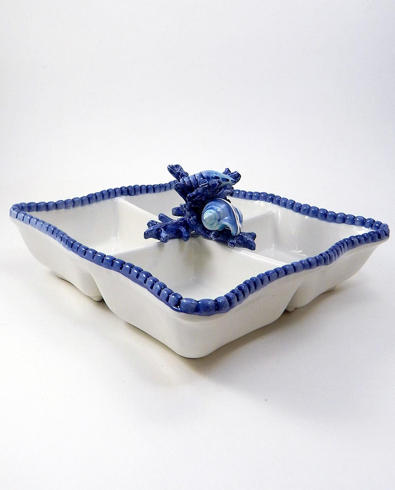 Antipastiera 4 scomparti ceramica tema mare mobilia for Mobilia recensioni