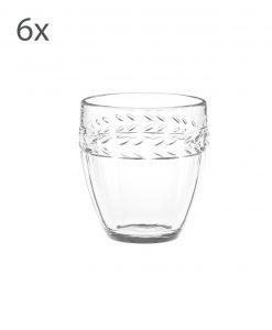 bicchiere vetro acqua brandani linea foglia