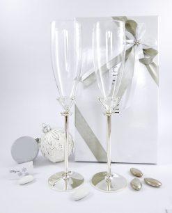 bomboniera natalizia flute in cristallo ottaviani
