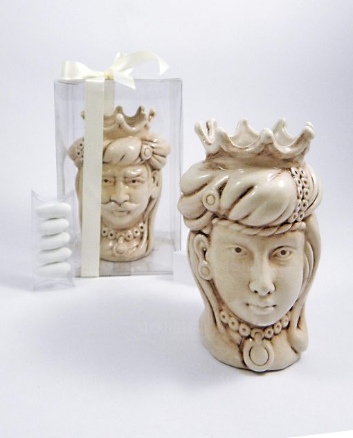 bomboniere teste di moro ceramica artigianale di caltagirone