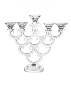 candeliere in cristallo a ventaglio 5 fiamme brandani