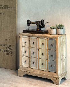 casettiera pastello in legno di abete brandani