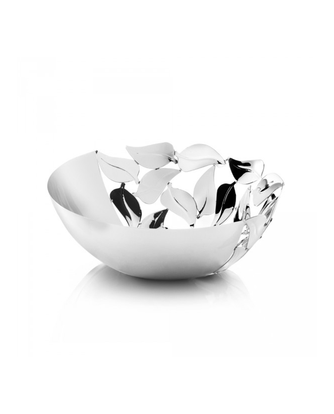 Centrotavola ottaviani con foglie mobilia store home - Centrotavola argento moderno ...