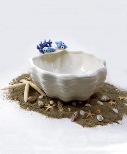 centrotavola tema mare in ceramica