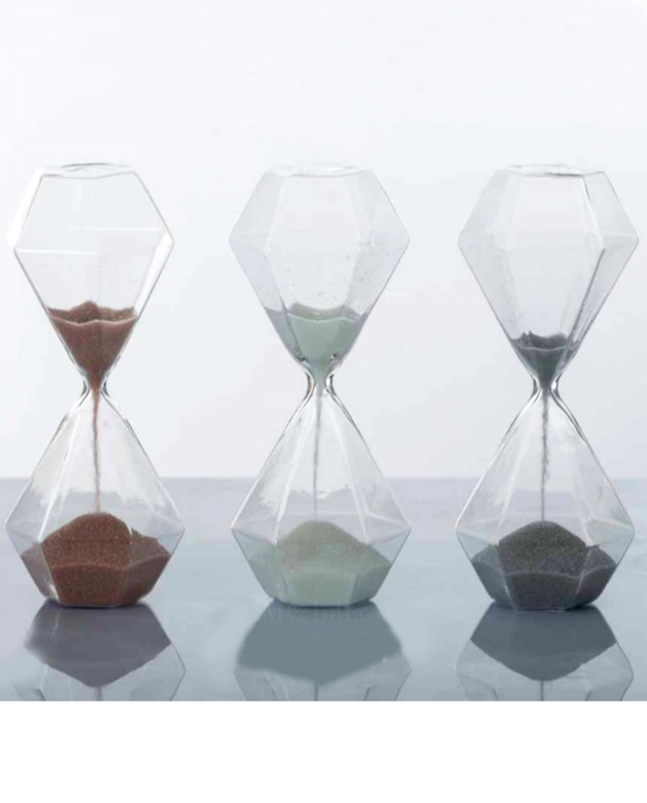 clessidre bomboniere in vetro grandi