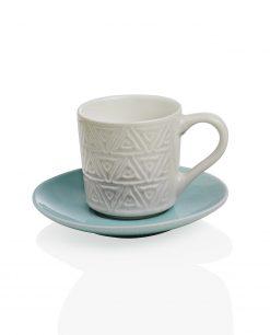 coppia di tazzine in ceramica decorata a rilievo alice brandani