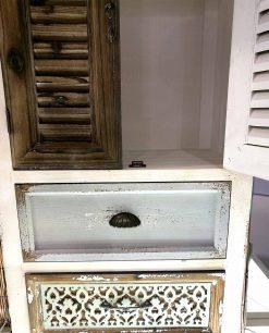 credenza vintage in legno decorato e intagliato brandani