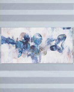 dipinto su tela blu brandani
